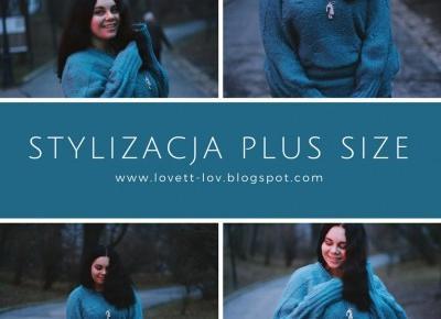 Stylizacja Plus Size - Szeroki Sweter - Lovett Lov