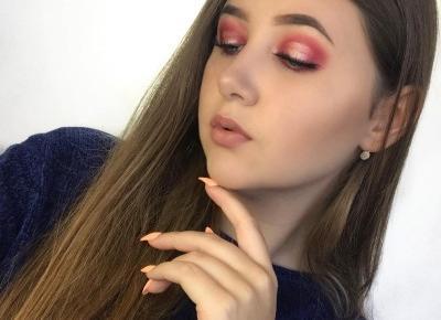 Mocny różowy makijaż wieczorowy!