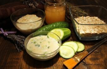 Maseczki z mąki pszennej i owsianej dla cery tłustej, mieszanej, trądzikowej i suchej | Kosmetyka 4 U