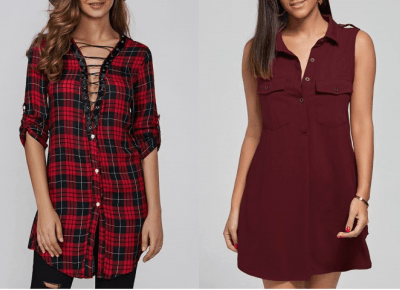 Blog testerski: RED SHIRT DRESS w ROSEGAL - czyli to, co kobiety kochają najbardziej ;)