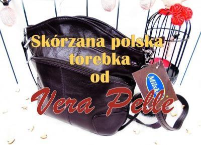 Blog testerski: Funkcjonalna i praktyczna torebka ze skóry naturalnej od VeraPelle24.pl