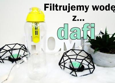 Blog testerski: Dafi, Butelka z filtrem węglowym do szybkiego uzdatniania wody kranowej.