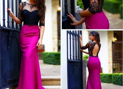 Halter Sexy Half Sleeve 2017 Prom Dresses Lace Charming Amazing Party Gowns_Newarrivaldress.com