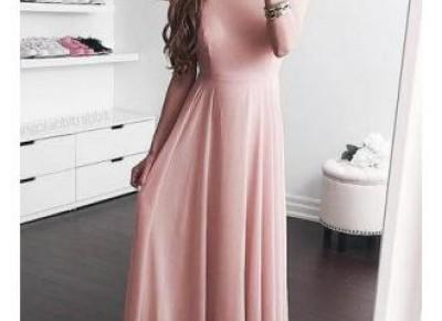 Floor-length Pink Elegant Jewel A-line Sleeveless Prom Dress