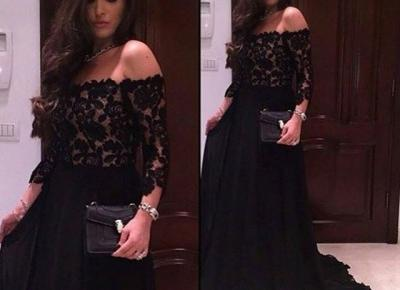A-line Off-Shoulder 3/4-Sleeves Lace Modern Prom Dress_Prom Dresses 2017_Prom Dresses_Special Occasion Dresses_Buy High Quality Dresses from Dress Factory - Newarrivaldress.com