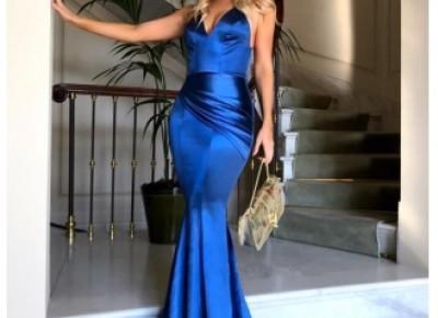 Mermaid V-Neck Ruched Gorgeous Zipper Evening Dress_Evening Dresses 2017_Evening Dresses_Special Occasion Dresses_Fashion Special Occasion Dresses & Wedding Dresses On Sale: Newarrivaldress.com