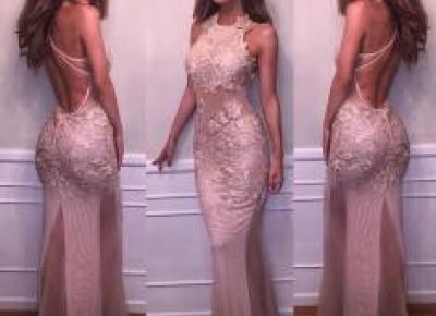 Mermaid Lace-Appliques Sleeveless Halter Delicate Prom Dress BA4359_Prom Dresses 2017_Prom Dresses_Special Occasion Dresses_Buy High Quality Dresses from Dress Factory - Newarrivaldress.com