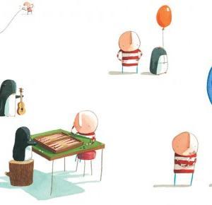 Pożeracz Ksiażek: Chłopiec i Pingwin | Przyjaźń