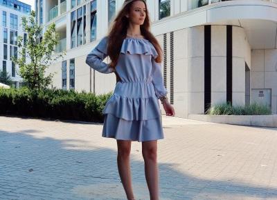 Na spacerze w letniej szarej sukience z @magmac.official 🙌🏼🌟🌸