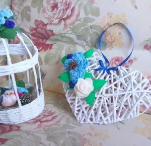 Uszyj to - rękodzieło DIY handmade: Serce z wikliny papierowej