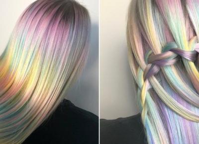 Light rainbow hair: nowy trend w koloryzacji włosów