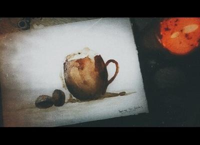 Maluję kubek z kawą... kawą