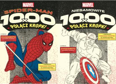RECENZJA | Niesamowite 1000x połącz kropki. Superbohaterowie Marvela | 1000x połącz kropki. Spider-Man Thomas Pavitte – Zaczytany w Książkach