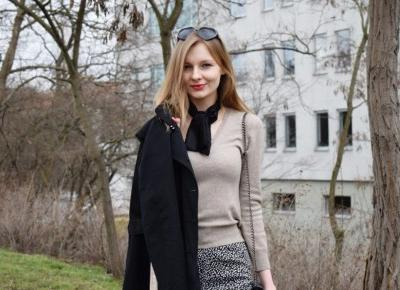Wiosenny look / Classy black and beige - Zavodniak.pl
