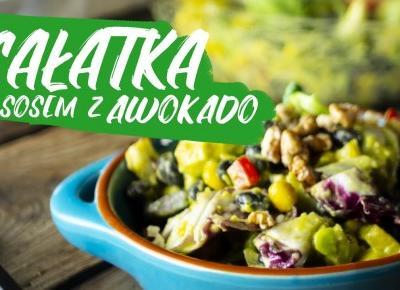 Sałatka z sosem z awokado | Zdrowo Najedzeni