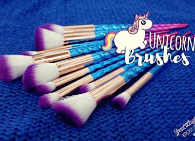 Unicorn Brushes Aliexpress - recenzja - ZjemCiKlapki blog