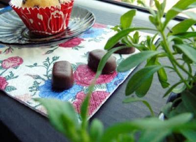 Zopiniuj - Robimy to, co lubimy: Babeczki z kawałkami czekolady w kolorowych papilotkach