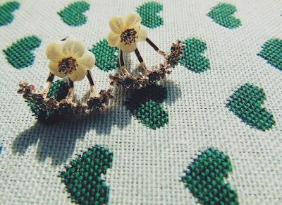 Zopiniuj - Robimy to, co lubimy: W biżuteryjnym kąciku - kwieciste kolczyki