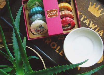Zopiniuj - Robimy to, co lubimy: Just go! Zestaw 8 wosków zapachowych Yankee Candle w pudełku - Candle4You