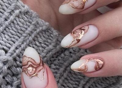 Marmurkowe paznokcie - inspiracje