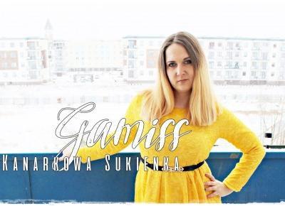 Kanarkowa sukienka i szpilki ombre - GAMISS | Zuzka Pisze