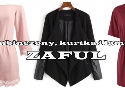 Dwa kombinezony, drapowana kurteczka i lampki flamingi ZAFUL | Zuzka Pisze