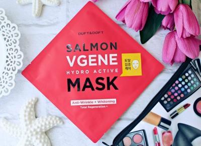 Odmładzająca maska w płachcie Salmon Vgene Hydro Active Mask Duft & Doft - HIT W KOREAŃSKIEJ PIELĘGNACJI! | Zuzka Pisze