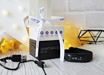 SmartWatch SmartBand - Smart Bransoletka Forever SB-220 IziGSM | Zuzka Pisze