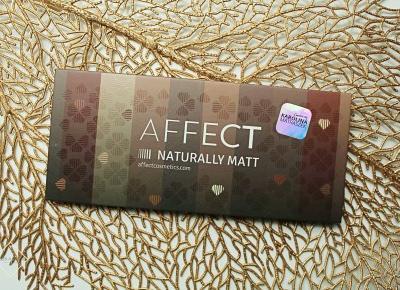 AFFECT - paleta cieni do powiek - NATURALLY MATT | Zuzka Pisze