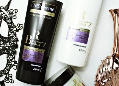TRESEMMÉ BIOTIN+ REPAIR 7 - Maska, odżywka i szampon do włosów | Zuzka Pisze