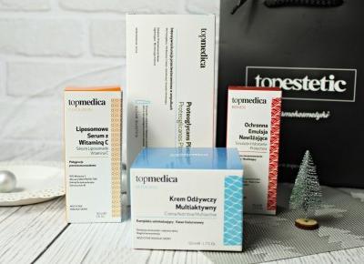 Dermokosmetyki topmedica - krem odżywczy multiaktywny, liposomowe serum z witaminą C, ochronna emulsja nawilżająca i intensywna pielęgnacja przeciwstarzeniowa w kapsułkach | Zuzka Pisze