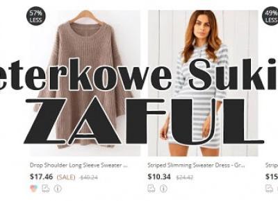 Sweterkowe Sukienki ZAFUL - ZuzkaPisze
