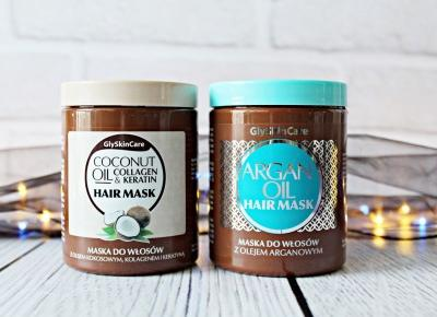COCONUT OIL COLLAGEN & KERATIN HAIR MASK / ARGAN OIL HAIR MASK - GlySkinCare | Zuzka Pisze