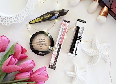 Wet n wild - Lash Renegade, Pressed Powder Poudre Compacte, Perfect Pout Gel Lip Liner oraz Megaliner | Zuzka Pisze