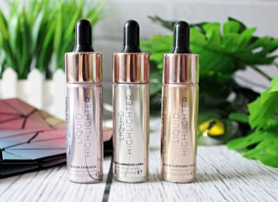 Płynny rozświetlacz Liquid Highlighter - Makeup Revolution | Zuzka Pisze