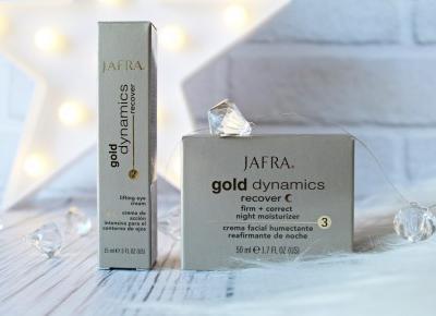 JAFRA Gold Dynamics recover - Krem ze złotem na noc + liftingujący krem pod oczy  | Zuzka Pisze