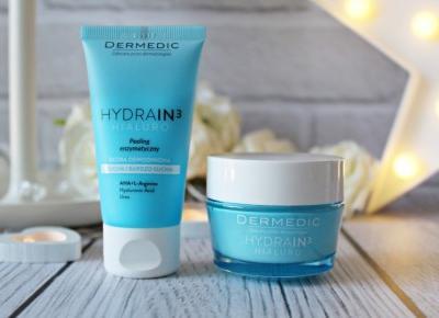 Idealna pomoc dla suchej skóry - DERMEDIC - HYDRAIN3 HIALURO  - peeling enzymatyczny i krem nawilżający |   Zuzka Pisze