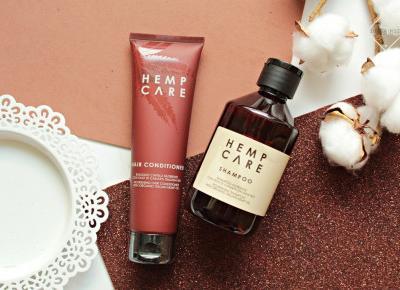 HEMP CARE - szampon do włosów i odżywka z organicznym olejem konopnym | Zuzka Pisze