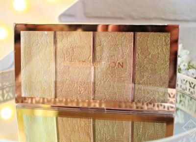 MAKEUP REVOLUTION VINTAGE LACE HIGHLIGHTER PALETTE - paleta rozświetlaczy | Zuzka Pisze