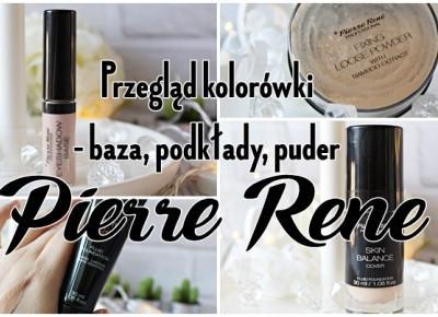 Przegląd kolorówki - baza, podkłady i puder - PIERRE RENE |   Zuzka Pisze