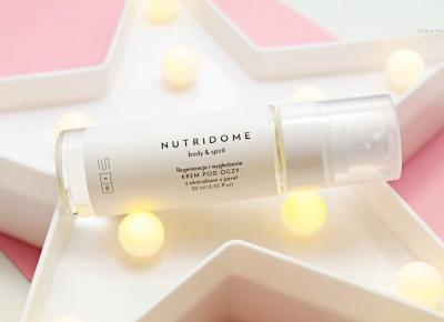 Natychmiastowo wygładzający krem pod oczy z ekstraktem z pereł od NUTRIDOME | Zuzka Pisze