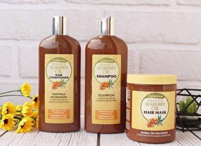 Regeneracja włosów z kosmetykami GlySkinCare - Szampon, odżywka i maska do włosów z organicznym olejem z rokitnika | Zuzka Pisze