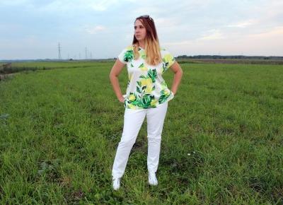 Shirt bluzkowy + legginsy + sneakersy - idealny zestaw na cieplejsze dni - BONPRIX | Zuzka Pisze
