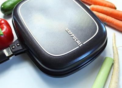 HAPPYCALL dwustronna patelnia z powłoką tytanową Titanium Jumbo Grill - recenzja + przepis na obiad | Zuzka Pisze