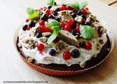 Życie zaczyna się w kuchni : Ciasto czekoladowe a la torcik z kremem chałwowym